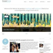 SimpleCorp Blogger Templates