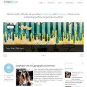 SimpleCorp Blogger Templates