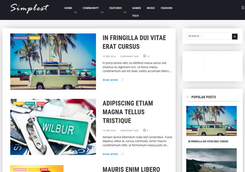 Simplest Boxed Blogger Template free download blogger blogspot best themes 2018