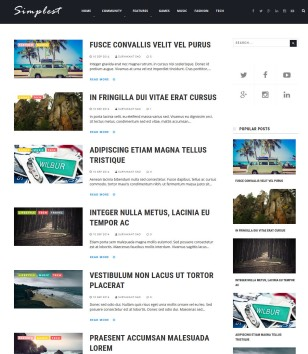 Simplest Simple Mag Blogger Templates