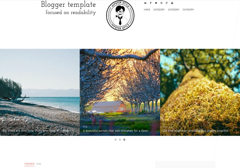 Simplex BLG Responsive Blogger Template. Personal blogspot template free theme