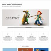 Simplex Creatliv Blogger Templates