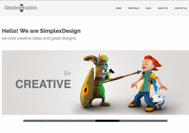 Simplex Creatliv Blogger Template. Portfolio business blogspot theme