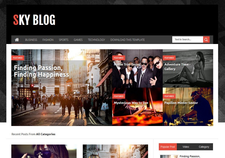 Sky Blog Responsive Blogger Template. Blogger Themes. Free Blogspot templates for your blogger blog. Best suitable for news blog templates. Best Ads ready blogspot templates help for add adsense ad code and easily showing adsence ads in your blog. Adapted from WordPress templates are converted from WordPress themes. It is help for take your rich. Blogger magazine template specially designed for magazine blogs. The writers can utilize this themes for take blog attractive to users. Elegant themes are more used themes in most of the blogs. Use minimalist blog templates for rich look for your blog. Free premium blogger themes means, themes authors release two types of themes. One is premium another one is free. Premium templates given for cost but free themes given for no cost. You no need pay From California, USA. $10 USD, or $20 USD and more. But premium buyers get more facilities from authors But free buyers. If you run game or other animation oriented blogs, and you can try with Anime blog templates. Today the world is fashion world. So girls involve to the criteria for make their life fashionable. So we provide fashion blogger themes for make your fashionable. News is most important concept of the world. Download news blogger templates for publishing online news. You can make your blog as online shopping store. Get Online shopping store blogger template to sell your product. Navigation is most important to users find correct place. Download drop down menu, page navigation menu, breadcrumb navigation menu and vertical dropdown menu blogspot themes for free. Google Guide to blogging tips and tricks for bloggers. Google bloggers can get blogspot trick and tips for bloggers. Blog templates portfolio professional blogspot themes, You can store your life moments with your blogs with personal pages templates. Video and movie blogs owners get amazing movie blog themes for their blogs. Business templates download. We publish blogger themes for photographers. Photographers easily share photos via photography blog themes. St valentine Christmas Halloween templates. Download Slideshow slider templates for free. Under construction coming soon custom blogspot template. Best beautiful high quality Custom layouts Blog templates from templateism, SoraTemplates, templatetrackers, simple, cute free premium professional unique designs blog themes blogspot themes. Seo ready portfolio anime fashion movie movies health custom layouts best download blogspot themes simple cute free premium professional unique designs xml html code html5.