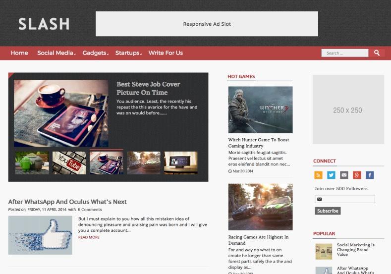 Slash Blogger Template. 2015 premium blogger templates