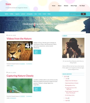 Slate Blogger Templates