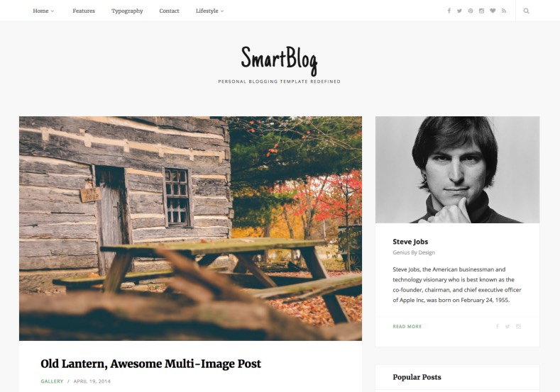 SmartBlog Blogger Template. Free download latest blogspot themes for your blogger blog. SmartBlog Blogger Template