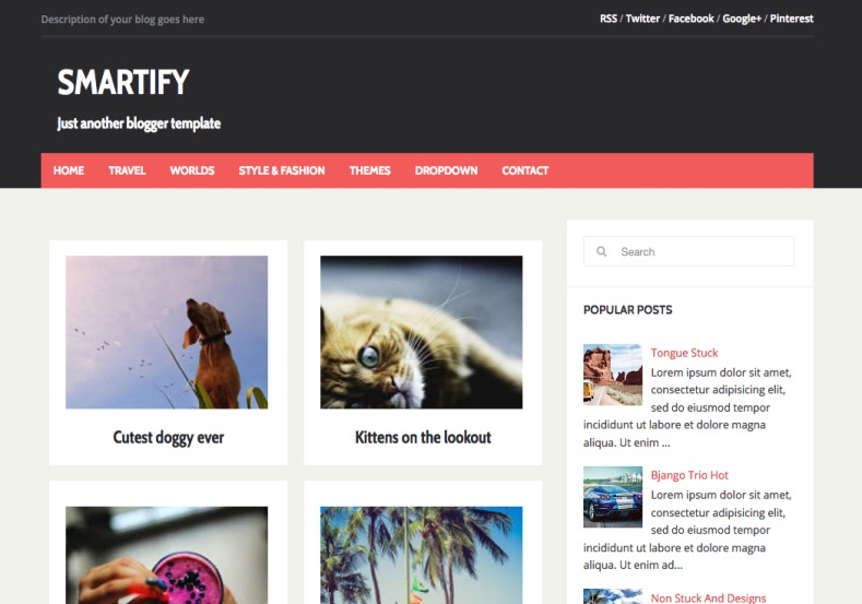 Smartify Blogger Template premium blogger template