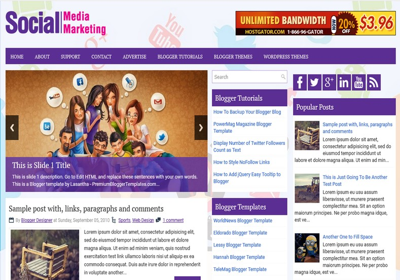 Socialmediamarketing blogger template free graphics for Create your own wordpress theme from an html template
