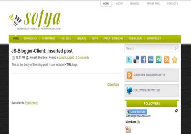 Sofya Blogger Template free download best blogger themes