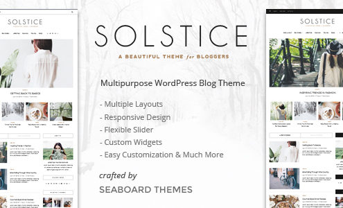 Solstice - A WordPress Blog Theme