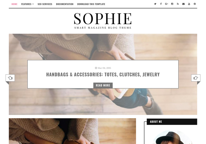 Sophie Minimal Blogger Template is an fast loading responsive blogger theme with social whatsapp sharing features and it is perfectly suitable for fashion and girly bloggers