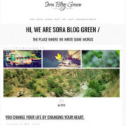 Sora Blog Green Responsive Blogger Templates