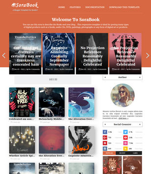 Sora Book Blogger Templates