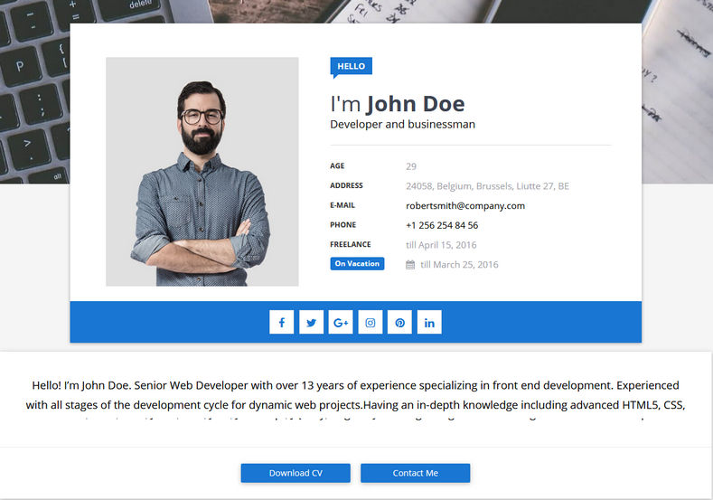 Sora CV Blogger Template is a unique and responsive fast seo friendly design which is perfect for personal information, resume and portfolio blogs