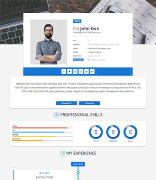 Portfolio Blogger Templates 2018 Free Download