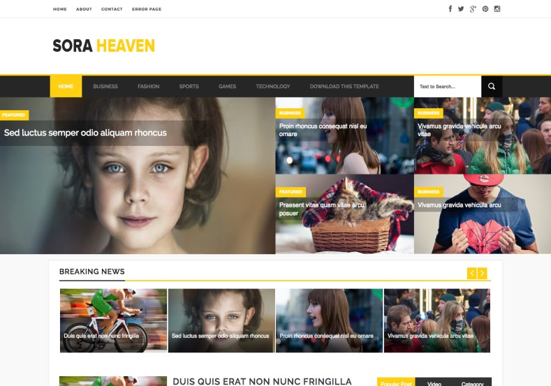 Sora Heaven Responsive Blogger Template. Blogger Themes. Free Blogspot templates for your blogger blog. Best suitable for news blog templates. Best Ads ready blogspot templates help for add adsense ad code and easily showing adsence ads in your blog. Adapted from WordPress templates are converted from WordPress themes. It is help for take your rich. Blogger magazine template specially designed for magazine blogs. The writers can utilize this themes for take blog attractive to users. Elegant themes are more used themes in most of the blogs. Use minimalist blog templates for rich look for your blog. Free premium blogger themes means, themes authors release two types of themes. One is premium another one is free. Premium templates given for cost but free themes given for no cost. You no need pay From California, USA. $10 USD, or $20 USD and more. But premium buyers get more facilities from authors But free buyers. If you run game or other animation oriented blogs, and you can try with Anime blog templates. Today the world is fashion world. So girls involve to the criteria for make their life fashionable. So we provide fashion blogger themes for make your fashionable. News is most important concept of the world. Download news blogger templates for publishing online news. You can make your blog as online shopping store. Get Online shopping store blogger template to sell your product. Navigation is most important to users find correct place. Download drop down menu, page navigation menu, breadcrumb navigation menu and vertical dropdown menu blogspot themes for free. Google Guide to blogging tips and tricks for bloggers. Google bloggers can get blogspot trick and tips for bloggers. Blog templates portfolio professional blogspot themes, You can store your life moments with your blogs with personal pages templates. Video and movie blogs owners get amazing movie blog themes for their blogs. Business templates download. We publish blogger themes for photographers. Photographers easily share photos via photography blog themes. St valentine Christmas Halloween templates. Download Slideshow slider templates for free. Under construction coming soon custom blogspot template. Best beautiful high quality Custom layouts Blog templates from templateism, SoraTemplates, templatetrackers, simple, cute free premium professional unique designs blog themes blogspot themes. Seo ready portfolio anime fashion movie movies health custom layouts best download blogspot themes simple cute free premium professional unique designs xml html code html5.