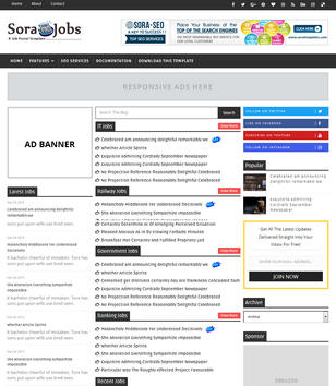 download template blogger job  Sora Jobs Blogger Template • Blogspot Templates 2018