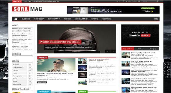 Sora Mag Responsive Blogger Template It Ka Damaka