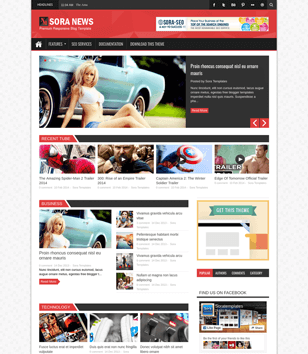 Sora News Responsive Blogger Templates