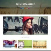 Sora Photography Blogger Templates