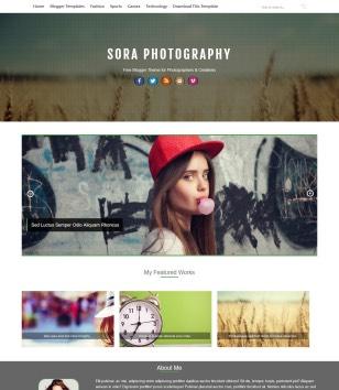 Sora Photography Blogger Templates