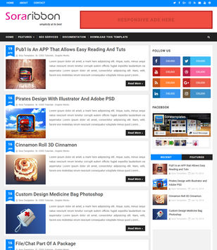 Sora Ribbon Blogger Templates