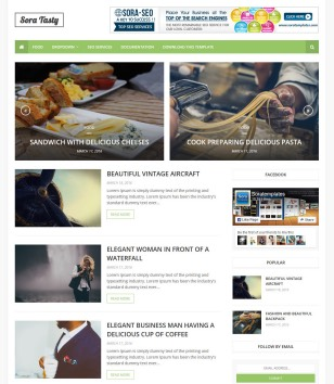 Sora Tasty Blogger Templates