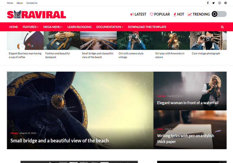 Sora Viral Blogger Template is an uniquely designed viral blogging blogger template with some unique and latest with extremely rare features.