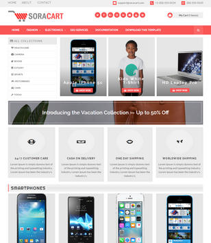 SoraCart Shopping Blogger Templates