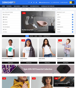 SoraShop Blogger Templates