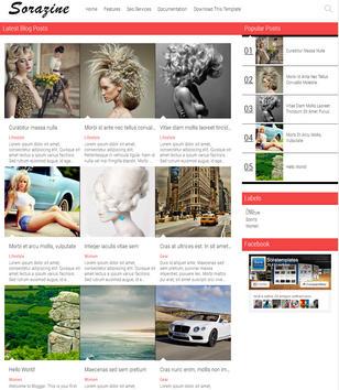 SoraZine Modern Blogger Templates