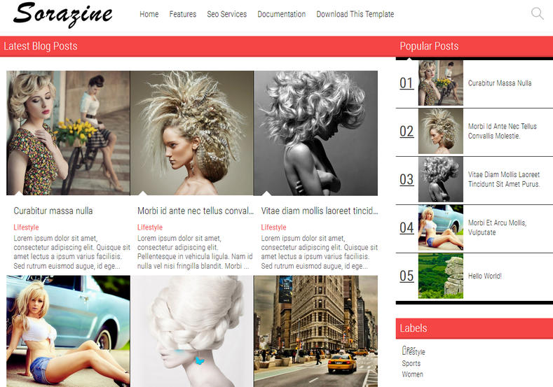 SoraZine Modern Blogger Template is a grid magazine responsive blogger themes with beautiful boxed layout