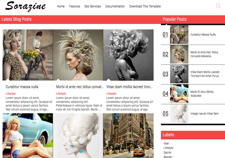 Sorazine Modern Blogger Template with gallery style blogger templates 2017 with clean design Sorazine Modern Blogger Template