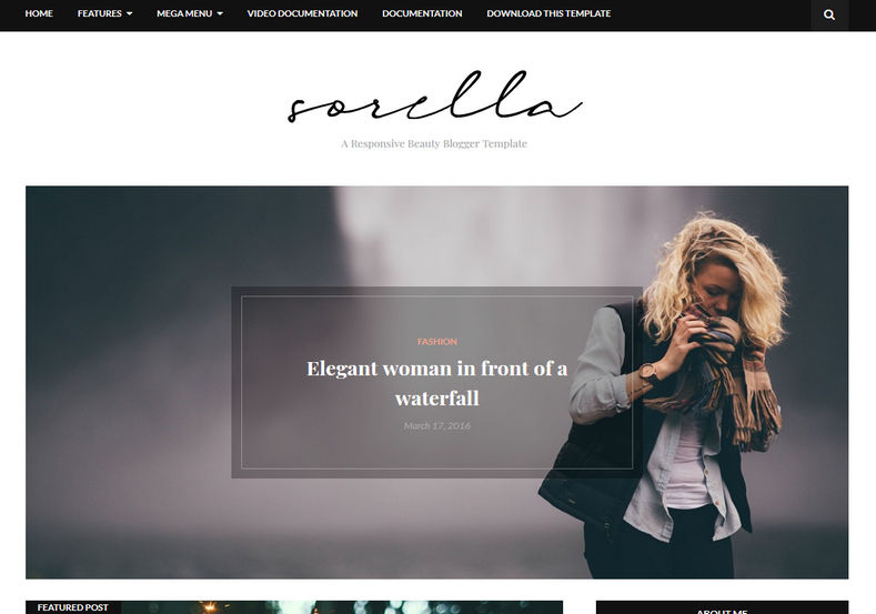 Sorella Blogger Template is a beauty, clean and minimal blogspot theme with amazing and catching design