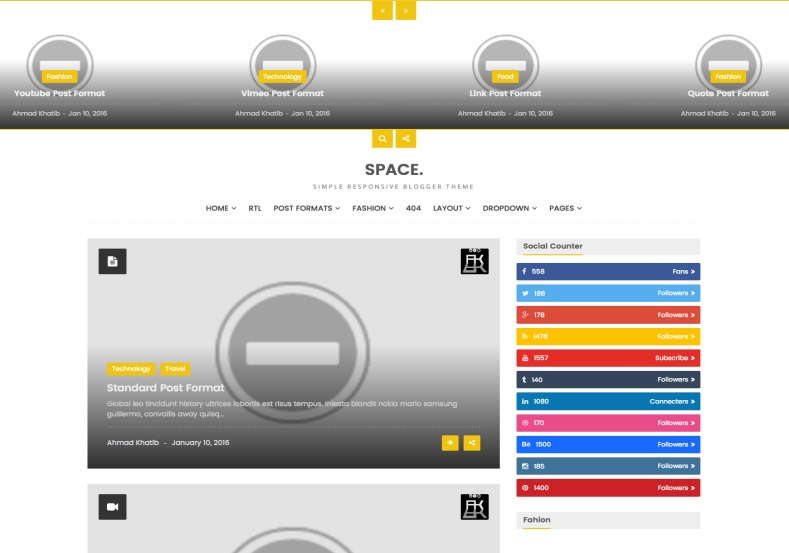 Space Blogger Template. Premium blogger templates 2017. Simple and elegantly blogger template with social bookmarking widget with counting. Space Blogger Template.