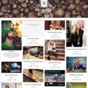Sparkle Grid Responsive Blogger Templates