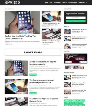 Sparks Blogger Templates