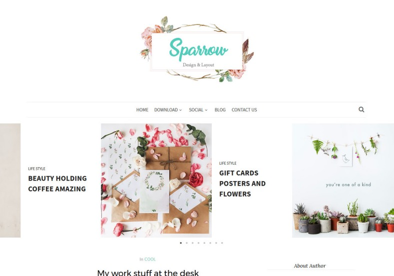 Sparrow Blogger Template. Nice looking blogger themes 2017 for design your blogspot blog for attracting your audience. Download beautiful Sparrow Blogger Template for free.
