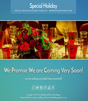 Special Holiday Responsive Blogger Templates