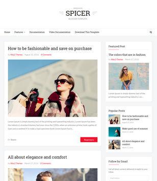 Spicer Blogger Templates