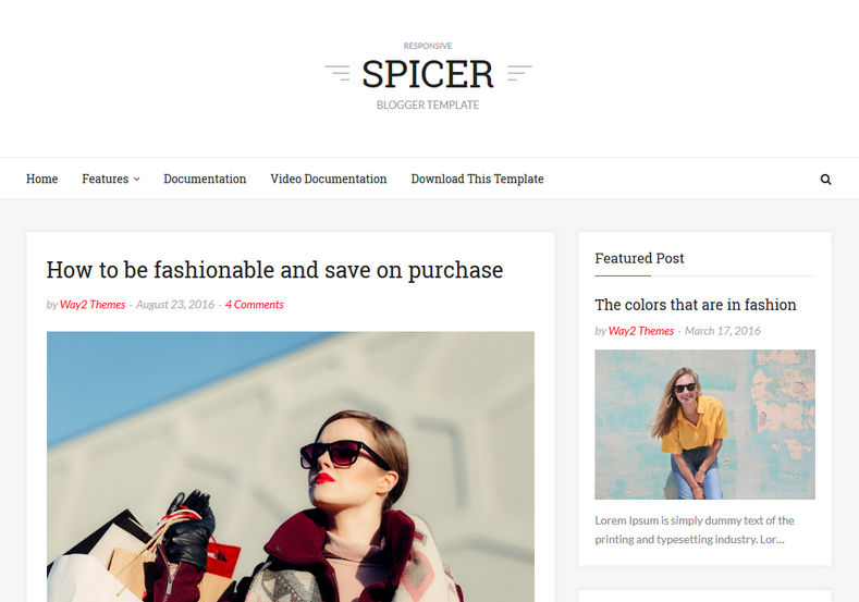 Spicer Blogger Template is a clean and fast loading simple blogspot theme with many advanced features like seo friendly coding and browser compatibility