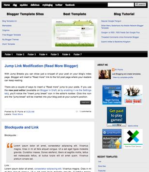 Spirad Blogger Templates