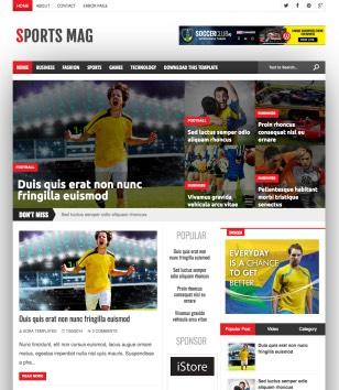 Sports Mag Blogger Templates
