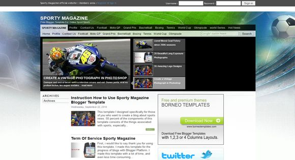 Sporty Magazine blogger template. Free Blogger templates. Blog templates. Template blogger, professional blogger templates free. blogspot themes, blog templates. Template blogger. blogspot templates 2013. template blogger 2013, templates para blogger, soccer blogger, blog templates blogger, blogger news templates. templates para blogspot. Templates free blogger blog templates. Download 1 column, 2 column. 2 columns, 3 column, 3 columns blog templates. Free Blogger templates, template blogger. 4 column templates Blog templates. Free Blogger templates free. Template blogger, blog templates. Download Ads ready, adapted from WordPress template blogger. blog templates Abstract, dark colors. Blog templates magazine, Elegant, grunge, fresh, web2.0 template blogger. Minimalist, rounded corners blog templates. Download templates Gallery, vintage, textured, vector,  Simple floral.  Free premium, clean, 3d templates.  Anime, animals download. Free Art book, cars, cartoons, city, computers. Free Download Culture desktop family fantasy fashion templates download blog templates. Food and drink, games, gadgets, geometric blog templates. Girls, home internet health love music movies kids blog templates. Blogger download blog templates Interior, nature, neutral. Free News online store online shopping online shopping store. Free Blogger templates free template blogger, blog templates. Free download People personal, personal pages template blogger. Software space science video unique business templates download template blogger. Education entertainment photography sport travel cars and motorsports. St valentine Christmas Halloween template blogger. Download Slideshow slider, tabs tapped widget ready template blogger. Email subscription widget ready social bookmark ready post thumbnails under construction custom navbar template blogger. Free download Seo ready. Free download Footer columns, 3 columns footer, 4columns footer. Download Login ready, login support template blogger. Drop do