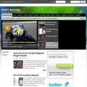 Sporty Magazine blogger template