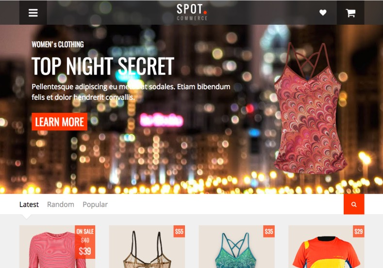 Spot Commerce Blogger Template. Spot Commerce Blogger Template 2015 premium blogger template