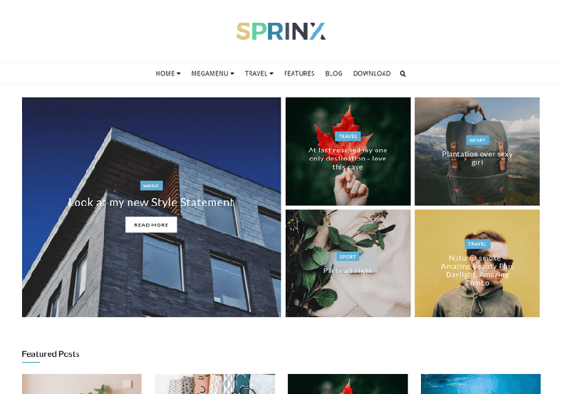 Sprinx Blogger Template is a free fashion blogger themes, specially bundled for those who loves fashion blogging and it is very targetted for female audience