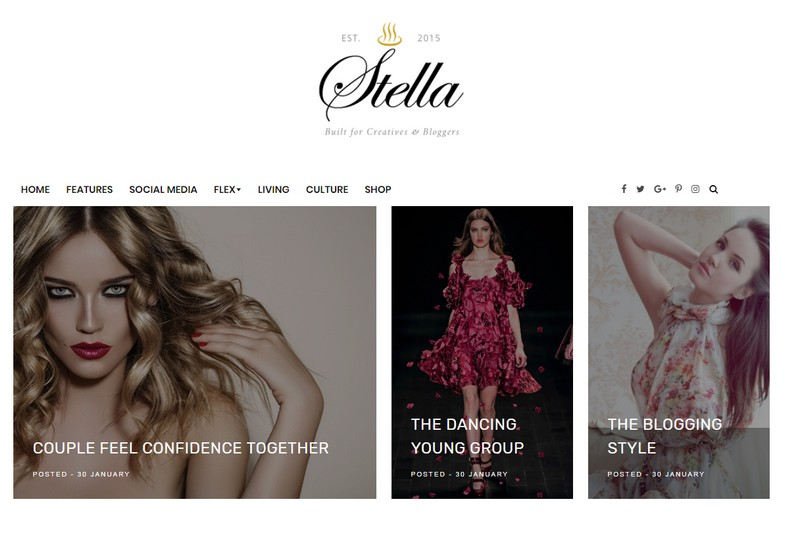 Stella Clean Blogger Template is a clean fast loading responsive modern fast and easy to use seo friendly blogspot theme