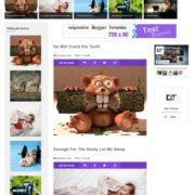 Sticky Gag Blue Responsive Blogger Templates